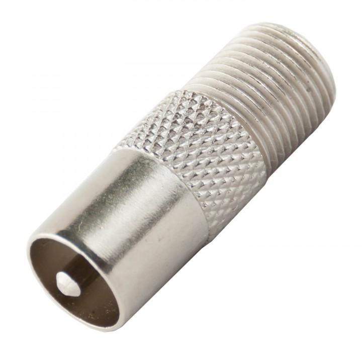 Штекер под F-разъем резьбовой для кабеля RG 6 медь ( папа)