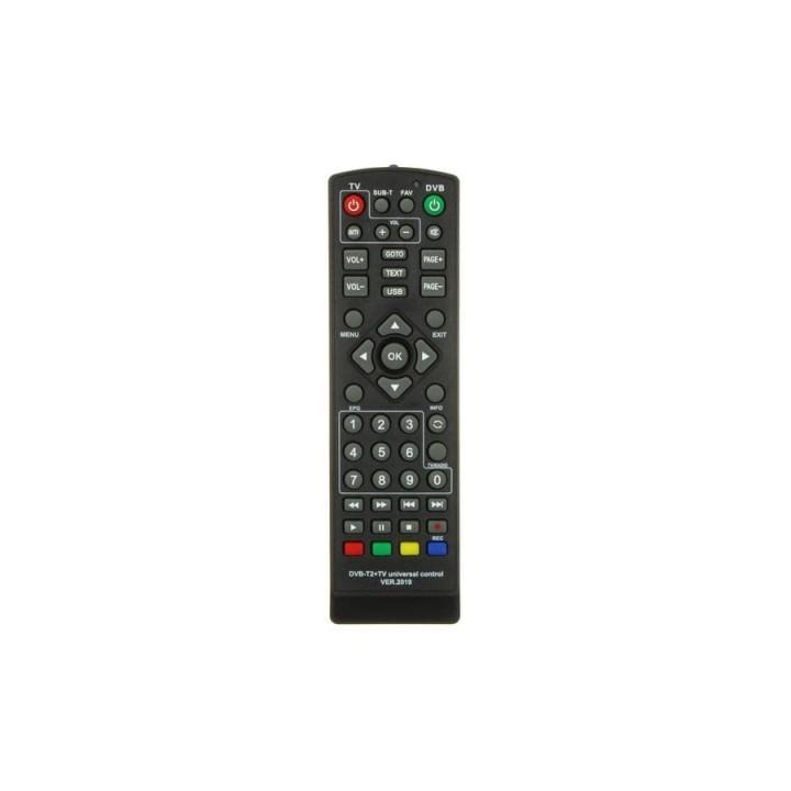 Пульт универсальный для приставок DVB-T2+2 ver. 2019